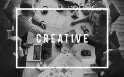 创造性的设计创新启发样式概念 免版税库存照片