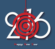 创造性的设计新年好2016年 免版税库存照片