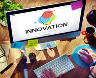 创造性的设计过程想法的创新概念 库存图片