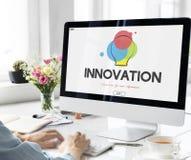 创造性的设计过程想法的创新概念 库存照片