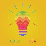创造性的边缘颜色绘画想法灯 库存照片