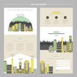 创造性的都市风景一个页网站 向量例证