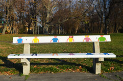 创造性的长凳 库存图片