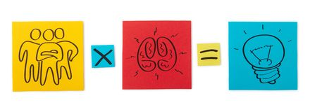 创造性的队的概念。色纸板料。 免版税库存照片