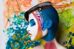 创造性的面孔艺术 免版税库存照片