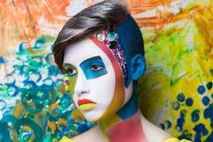 创造性的面孔艺术 免版税库存图片