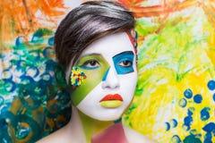 创造性的面孔艺术 库存照片