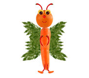 创造性的食物概念 滑稽的小的蝴蝶由果子制成和 图库摄影