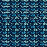 创造性的鱼和眼睛 库存照片