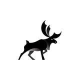 创造性的鹿商标设计 库存图片