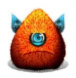 创造性的滑稽的一个眼睛妖怪 免版税库存照片