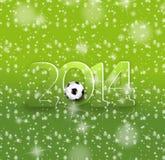 创造性的2014年足球设计 库存照片