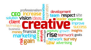 创造性的主题词 库存照片