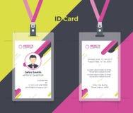 创造性的ID卡片桃红色黄色颜色 皇族释放例证