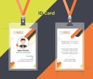创造性的ID卡片橙黄色颜色 皇族释放例证