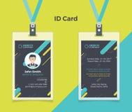 创造性的ID卡片黑色绿松石颜色 免版税库存图片