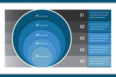 创造性的Infographic圈子图 库存图片