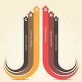 创造性的infographic设计 库存照片