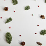 创造性背景的圣诞节 免版税图库摄影