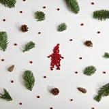 创造性背景的圣诞节 免版税库存图片