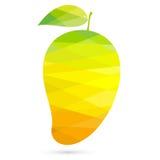 创造性芒果多角形的样式 免版税图库摄影