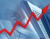 创造性财务增长 免版税库存照片