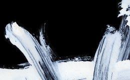 创造性,创新,有趣的背景的白色传神刷子冲程在禅宗样式 库存例证