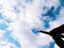 创造性,界限是天空 免版税库存图片