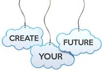 创造您的在云彩横幅的未来 向量例证