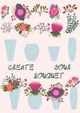 创造您的花束 图库摄影