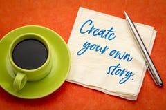 创造您自己的故事 免版税库存照片