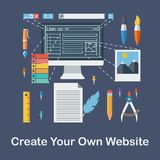 创造您自己的网站 库存照片