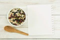 创造食谱 免版税库存照片