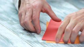 创造origami接近的人 股票视频