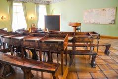 初中,他学习著名俄国诗人亚历山大・谢尔盖耶维奇・普希金 免版税库存照片
