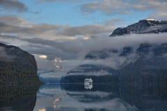 初夏海湾,挪威 库存照片