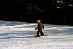 初学者滑雪者 库存照片