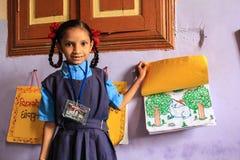 初等教育女性edcation印度 库存图片