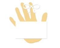 删去切记概念手指丝带 免版税库存照片