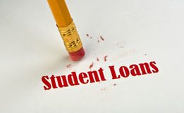 学生贷款。 库存图片