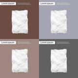 删去被弄皱的纸板料,空的页纹理 皇族释放例证