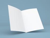 删去被折叠的飞行物、小册子、名片或者小册子 免版税库存照片