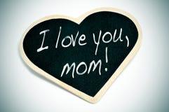我爱你,妈妈 免版税库存图片