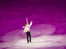 判断节目hongbo奥林匹克沈滑冰的xue赵 免版税图库摄影