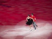 判断节目moir奥林匹克s滑冰的t美德 免版税库存图片