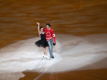 判断节目moir奥林匹克s滑冰的t美德 图库摄影