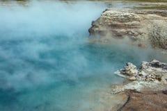 细刨花喷泉火山口 免版税图库摄影