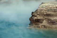 细刨花喷泉火山口 库存照片