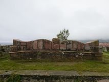 利亚内斯,北西班牙的镇看法  库存图片