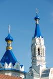 利佩茨克州,俄罗斯- 8月10 2016年 圣德米特里Solunsky教会在村庄Korobovka,地标 库存图片